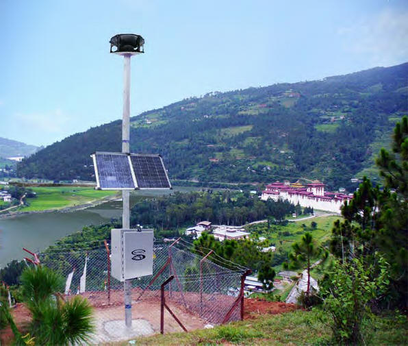 Whelen Flood Outdoor Warning Siren system in Bhutan