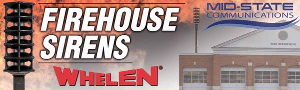 Mid-State Communications is a Whelen Outdoor Warning Siren Dealer
